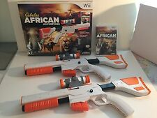 NEW 2-GUN BUNDLE Wii/Wii-U Cabela's African Adventures Game w/Top Shot Elite Set