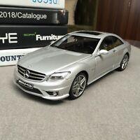 New 1/18 AUTOart Mercedes Benz CL63 AMG coupe open close car model Silver 76168