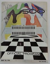 1976 Indianapolis 500 Program Johnny Rutherford McLaren / Offy