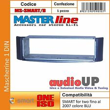 MASCHERINA AUTORADIO 1 DIN ADATTATORE SMART FOR TWO FINO 2007 UN DIN MASTERLINE