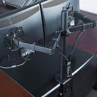"360-degree Rotating Desktop Dual-Screen 10-27"" Display Stand Monitor Mounts"