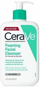 CeraVe Foaming Facial Cleanser 16 Oz Daily Face Wash for Oily Skin- YOUR CHOICE