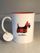 Red Plaid Scottie Dog Scottish Terrier Mug by Fringe