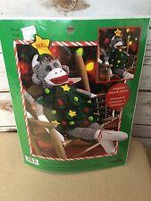 "Leisure Arts NIP Noel 21"" Sock Monkey Kit with Adoption Papers 46305"