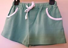 BN Bella Bliss Grass Green Cotton Knit Piped Play Shorts ~ Girl's 3 Year
