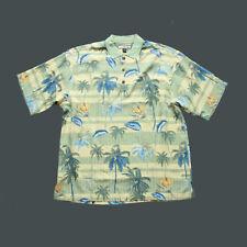 Tommy Bahama $100 Hawaiian Short Sleeve Shirt Relax Mens Size L 100% Silk