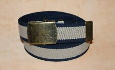 Adult Boys Mens Girls Blue Brown Elasticated Buckled Belt xl xxl 30 to 60 inch