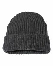"""Sportsman 12"""" Chunky Knit Cap Beanie Hat With Cuff Winter Sports Skull New SP90"""