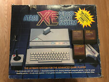 ATARI XE Game Console Computer System & 4 Games Lot - Near Complete Sold AS-IS