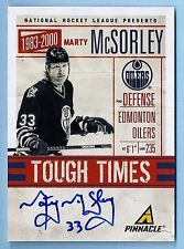 MARTY MCSORLEY 2011/12 PINNACLE TOUGH TIMES SIGNATURE AUTOGRAPH AUTO