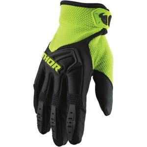 Thor Youth Spectrum Motocross Offroad Gloves Black / Flo Acid
