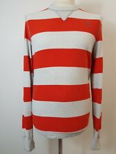 Mens Red & Grey Striped Sweater by Abercrombie & Fitch. Size Large. 42' Chest