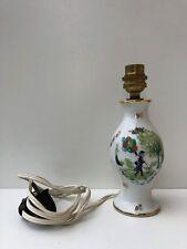 superbe pied de Lampe en porcelaine de couleuvre  Décor L.PEYNET