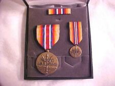 US Merchant Marine Pacific War Zone Cased Medal Set New Never Used Vanguard