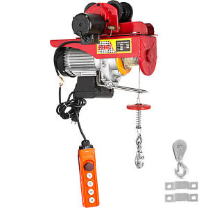 VEVOR 800kg Electrical Trolley Cable Crane Winch Cable Winch Cable hoist 1300W