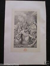 1874 DEPOSTO DI CROCE DEPOSIZIONE DI GESU' SEPOLCRO ANTICA STAMPA INCISIONE e8
