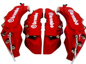 HIGH QUALITY BIG & MEDIUM RED CAR BRAKE CALIPER COVERS 4PCS FRONT/REAR