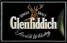 GLENFIDDICH LOGO Vintage Metal Pub Sign | 3D Embossed Steel | Home Bar