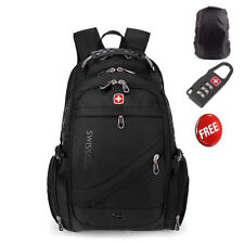 2019 Swiss Gear Men Travel Bags Macbook laptop hike black color backpack 15.6""