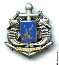 MARINE A TERRE. Fusiliers Marins, Insigne de Beret.  Fab. Balme
