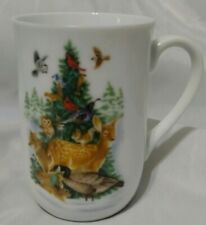Vintage Otagiri Japan Gibson Greetings Inc Coffee Cup Forest Animals