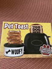 New Pangea Brands Pet Toast Dog Toaster 2-Slice Pet Embossing, Poodle.