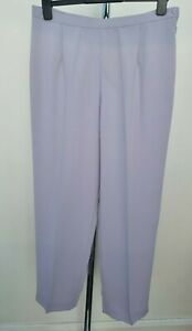 Women's JACQUES VERT Designer Pale Lilac Tailored Trousers Size 16