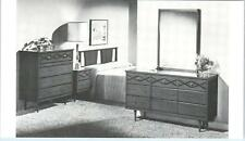 MID-CENTURY MODERN Furniture Advertising Formica BEDROOM SET   c1950s  Postcard
