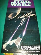 STAR WARS ~ New ORIGINAL Video Gaming POSTER 11X22 Nintendo NES