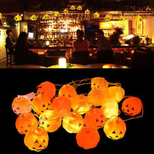 New 16 Pumpkins LED String Light Pumpkin Lights for Halloween Decoration Party O