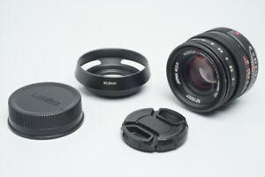 Konica M-Hexanon 50mm f/2 F2 Lens, Manual Focus For Leica M Mount Rangefinder