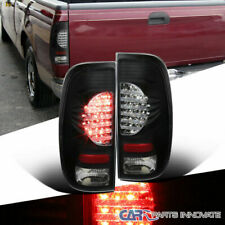 Ford 97-07 F150 99-07 F250 F350 Styleside Black LED Rear Tail Lights Brake Lamps