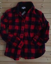 G1 NEW Jcrew Wallace Barnes CPO Jacket Parka Wool Coat Top $158 M Plaid Red Flan