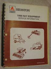 1998 AGCO HESSTON HAY EQUIPMENT SERVICE INFORMATION REPAIR MANUAL