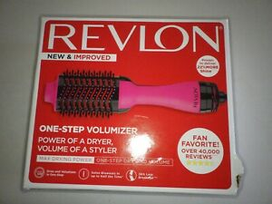 Revlon One-Step Hair Dryer and Volumizer Hot Air Brush, Pink