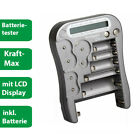 Kraftma Batterie Tester LX5900 - AA AAA Baby C Mono D 9V Knopfzellen - digital