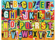 Melissa & Doug Wooden Chunky 26 piece Jumbo Learning ABC Jigsaw Puzzle MND3833