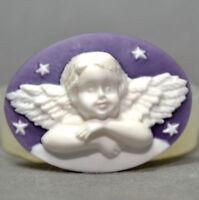 Silicone Cherub Cupid Cameo Mould Cupcake Polymer Chocolate Fimo Mold  SM