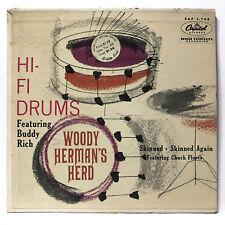 "Woody Herman's Herd – Hi-Fi Drums 45 1956 jazz big band NM- 7"" vinyl record"