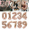 "40"" Giant Foil Number Rose Gold Helium Large Baloon Birthday Party Wedding Decor"