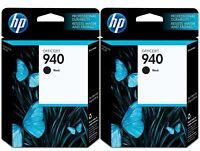 GENUINE HP 940 Black Ink Cartridge 2-Pack for Officejet 8000 8500