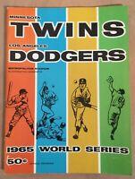 VINTAGE 1965 WORLD SERIES BASEBALL PROGRAM DODGERS @ TWINS - KOUFAX & DRYSDALE