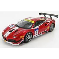 Burago Ferrari Model Car 488 Challenge N 11 Racing 2017 Red Met 1:24