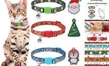 3 Pack Christmas Cat Breakaway Collar with Bell - Small Pet Santa Collars Acces
