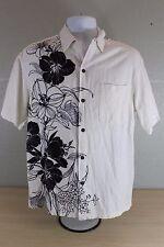 Iolani Vintage Hawaiian Hawaii Flower Floral Button Up Men's Shirt Size S Small