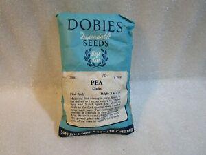 Vintage 1971 Dobies Pea Gradus  Seeds.. Unopened .. Rare