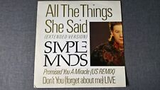 SIMPLE MINDS - ALL THE THINGS SHE SAID .     12''Vinyl SP.