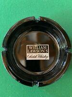 Grand Cendrier publicitaire noir vintage Scotch Whisky William Lawson's