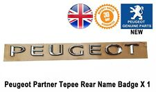 Peugeot Partner Rear Badge Writing Name Tailgate Emblem Genuine 9678147680 X1