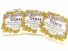 La Bella Guitar Strings 3 Pack Extra Hard Silver Plated Classical 2001